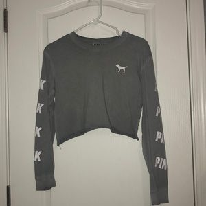 grey vs pink crop long sleeve